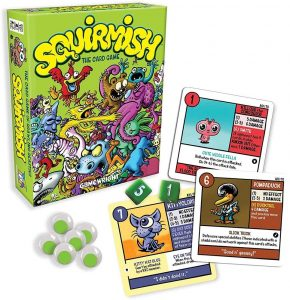Gamewright Squirmish - The Card Game of Brawling Beasties