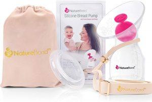 NatureBond Silicone Breastfeeding Manual Breast Pump Milk Saver Nursing Pump